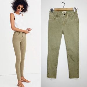 """MADEWELL 9"""" high rise skinny cropped jeans"""